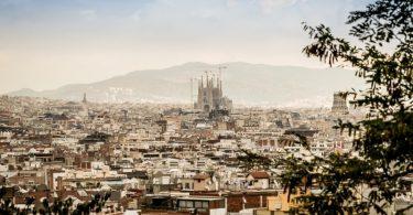 Aussicht auf Barcelona Stadt