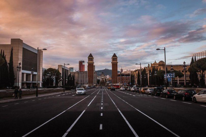 parken in Barcelona Montjuic