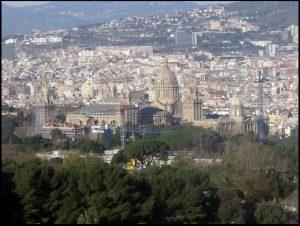Blick auf Barcelona vom Montjuïc Berg