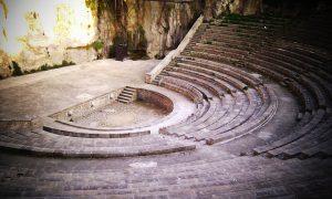 Anfitheater von schräg oben gesehen
