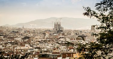 Panoramafoto von Barcelona