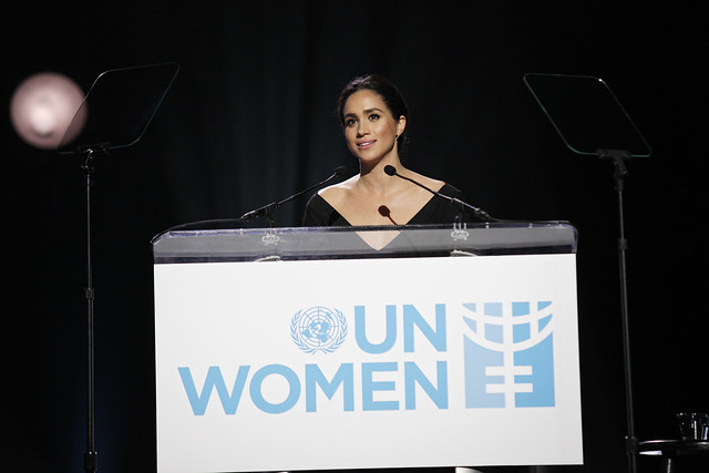 Meghan Markle bei einer Ansprache auf der UN Women