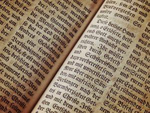 ein kleiner Ausschnitt eines antiken deutschen Buches, mit alter Schrift und gelblichen Seiten