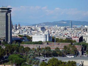 Aussicht auf Barcelona ins Landesinnere