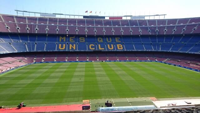 stadion des fc barcelona in der oberen zone der kreisstadt