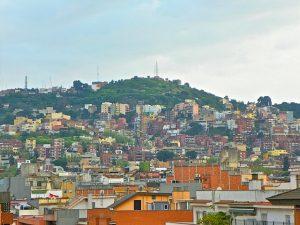 Aussicht auf das Stadtviertel Font d'en Fargues in Barcelona
