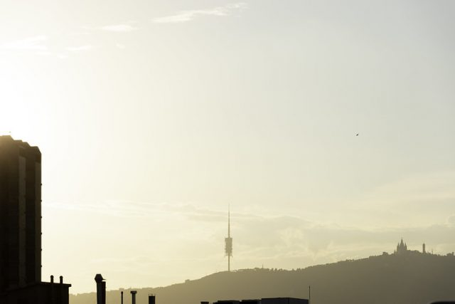 Blick auf die Berge von Barcelona