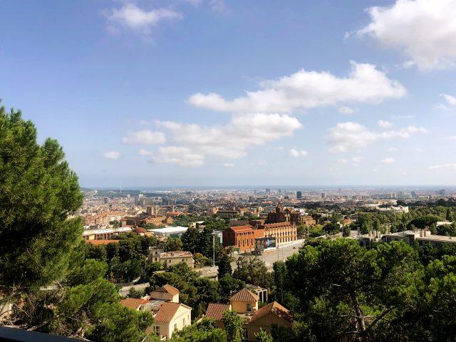 Aussicht auf den Stadtteil Sarria Sant Gervasil in Barcelona