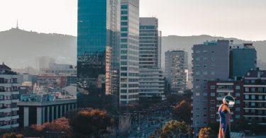Teil der Skyline Barcelonas